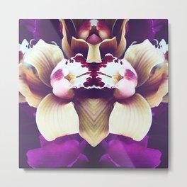 Velvet Purple Orchid Metal Print