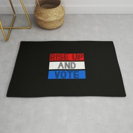 Rise Up And Vote Vintage Rug