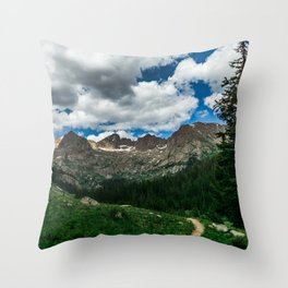 Chicago Basin Landscape Throw Pillow