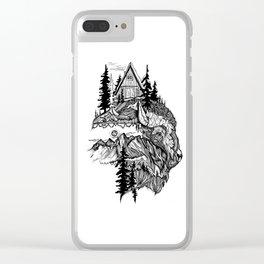 White Buffalo Clear iPhone Case