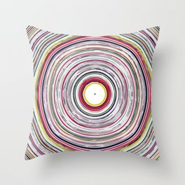 Colorful Circles Pattern Throw Pillow