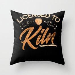 Pottery Kiln Throw Pillow