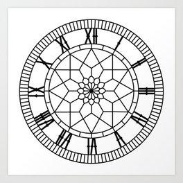 Pierhead Clock Art Print