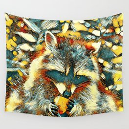 AnimalArt_Raccoon_20170901_by_JAMColorsSpecial Wall Tapestry