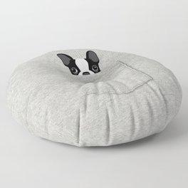 Pocket Boston Terrier - Black Floor Pillow