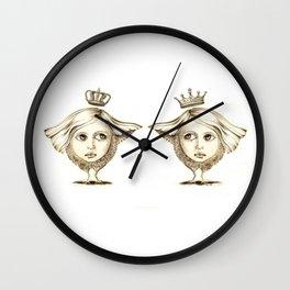 Siamese Queens Wall Clock