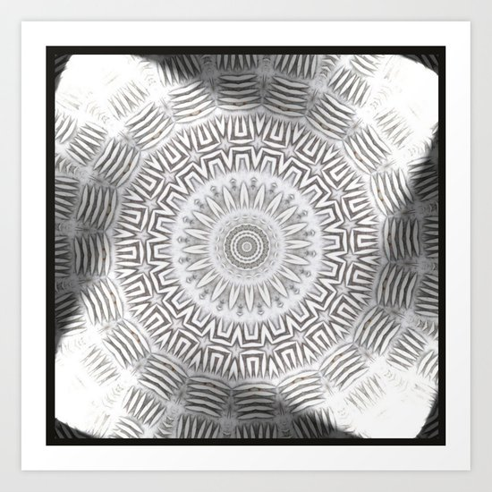 METAL Element Kaleido Pattern Art Print