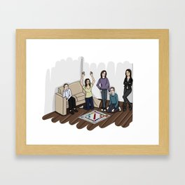 AOS Bus Team Playing Monopoly Framed Art Print