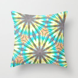 Twelve-Pointed Diagonal Stars Throw Pillow