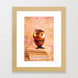 Bookish owl Framed Art Print