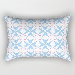 star and polka dot 3 - blue and pink Rectangular Pillow