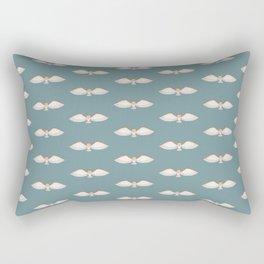 Barn Owl Pattern in Teal Rectangular Pillow
