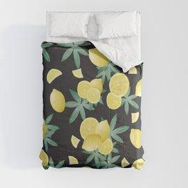 Lemon Twist Vibes #5 #tropical #fruit #decor #art #society6 Comforters