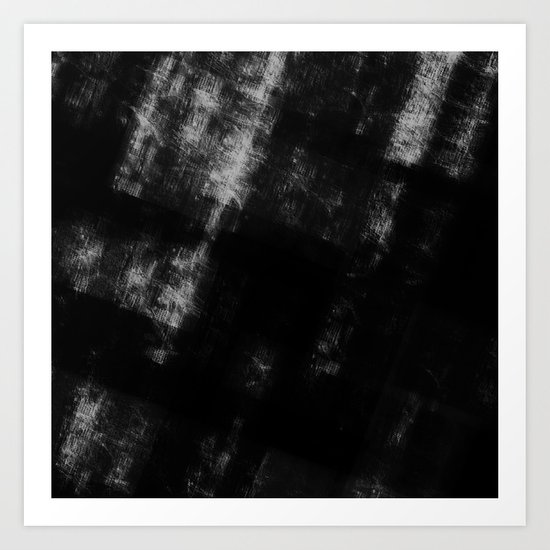 Black & White Abstract Series ~ 8 Art Print