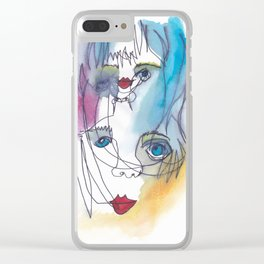Colour Dream Clear iPhone Case