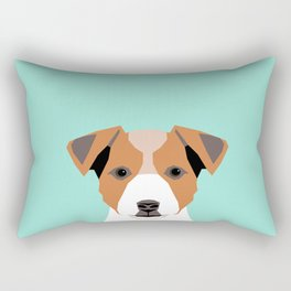 Bailey - Jack Russell Terrier phone case art print gift for dog people Jack Russell Terrier owners Rectangular Pillow