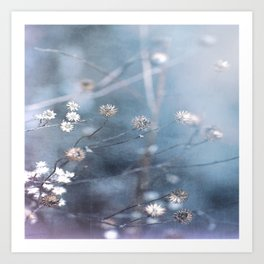 Dusty Fog Flowers Art Print
