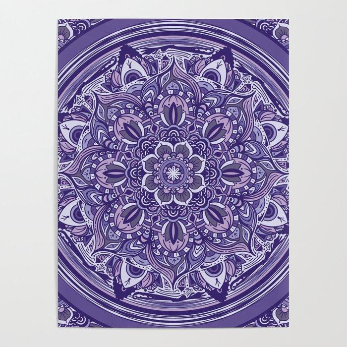 Great Purple Mandala Poster