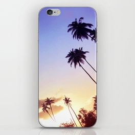 Love Palm Trees Coast  - Colorful Seaside Landscape Sunset iPhone Skin