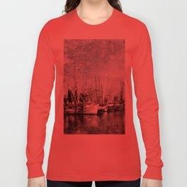 Shrimp Boats at the Pass Harbor Long Sleeve T-shirt