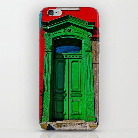 The Old Green Door  iPhone & iPod Skin