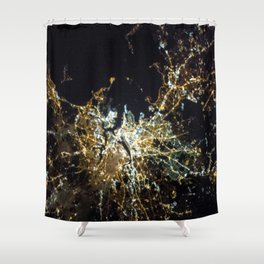 ISS-35 Boston at Night Shower Curtain