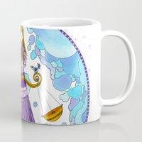 libra Mugs featuring Libra by Sandra Nascimento