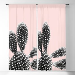 Black Blush Cactus Dream #1 #plant #decor #art #society6 Blackout Curtain