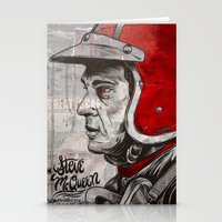 steve mcqueen Stationery Cards featuring McQueen by EL GRAN TOCAYO