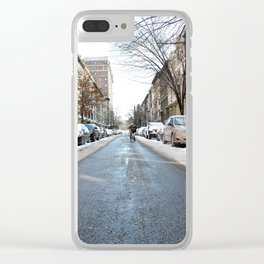 Upper West Side after the Snow Clear iPhone Case