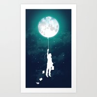 facebook Art Prints featuring Burn the midnight oil  by Picomodi