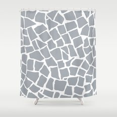 Mosaic Zoom Grey Shower Curtain