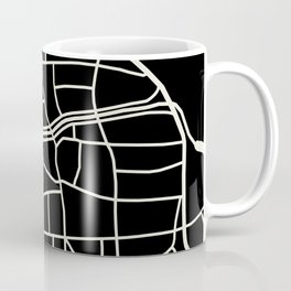 Wismar Karte Dark Coffee Mug