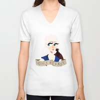 mother of dragons V-neck T-shirts featuring Mother of Dragons by hellokittyloli
