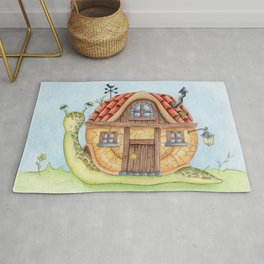 Snail With A Home Rug
