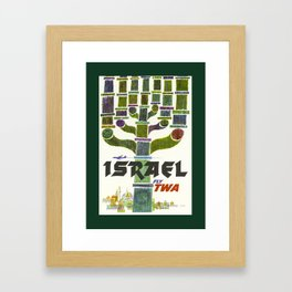 Vintage Israel Travel Poster Framed Art Print
