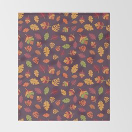 Fall Autumn Leaves Throw Blanket