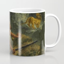 "Eugène Delacroix ""Arab Stalking a Lion"" Coffee Mug"