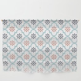 Red & Blue Mute Lattice Wall Hanging