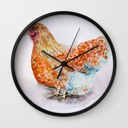 Blue-Laced Red Wyandotte Hen Wall Clock