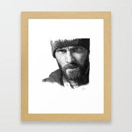 Curtis everett (snowpiercer) Framed Art Print