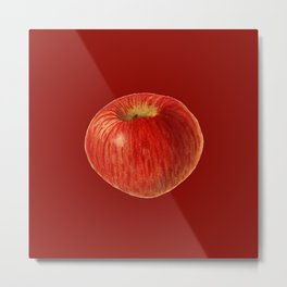 33. Watercolour Acker Apple Painting (Malus Domestica) Metal Print
