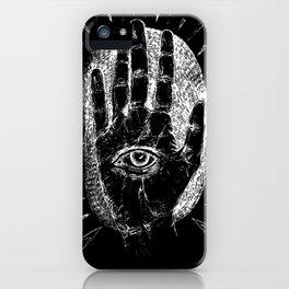 HAMSA (black and white) iPhone Case