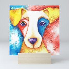 Dog Jack Russell Terrier JRT Original Art Confetti Mini Art Print