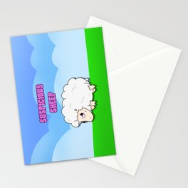 Suspicious Sheep Stationery Cards