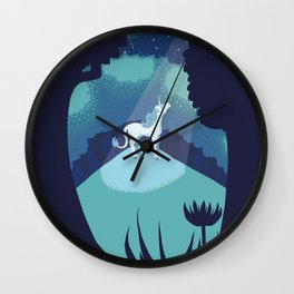 Moonlit Clearing Wall Clock