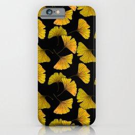 Ginkgo Leaf (Fall) - Black iPhone Case