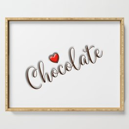 Love Chocolate Serving Tray