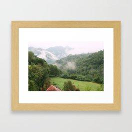 Morning in the mountains Framed Art Print
