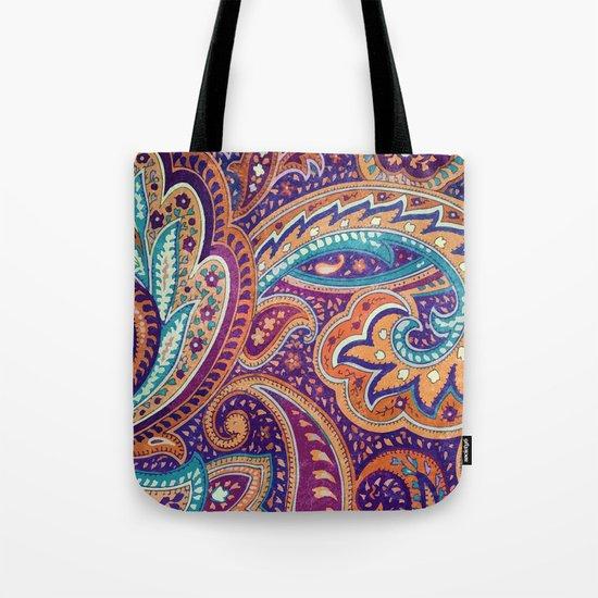 Summer paisley Tote Bag